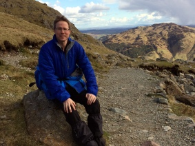 Resting at Stickle Tarn 2